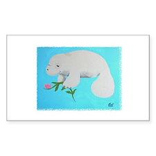 Manatee Rectangle Sticker 50 pk)