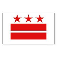 3 Stars 2 Bars Sticker (Rectangle 10 pk)