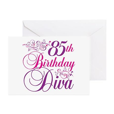 85th Birthday Diva Greeting Cards (Pk of 10)