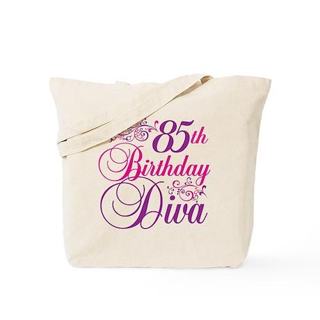85th Birthday Diva Tote Bag