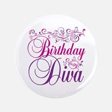 "Birthday Diva 3.5"" Button"