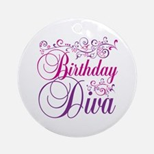 Birthday Diva Ornament (Round)