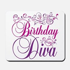 Birthday Diva Mousepad