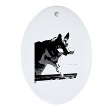 Cute Obedience Oval Ornament