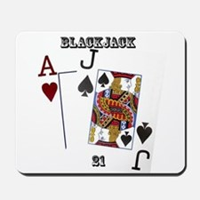 Blackjack Cards Mousepad
