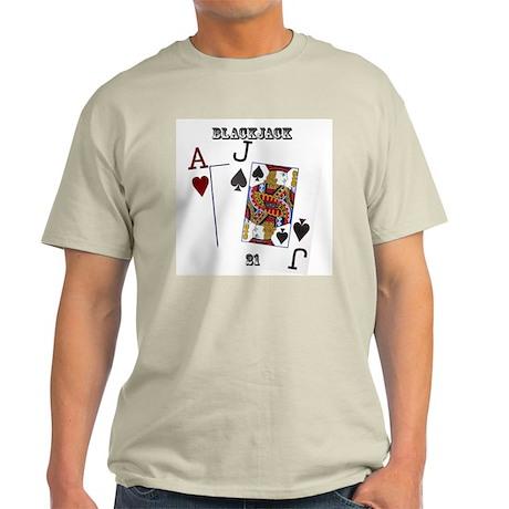 Blackjack Cards Light T-Shirt