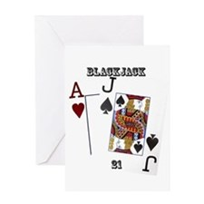 Blackjack Cards Greeting Card