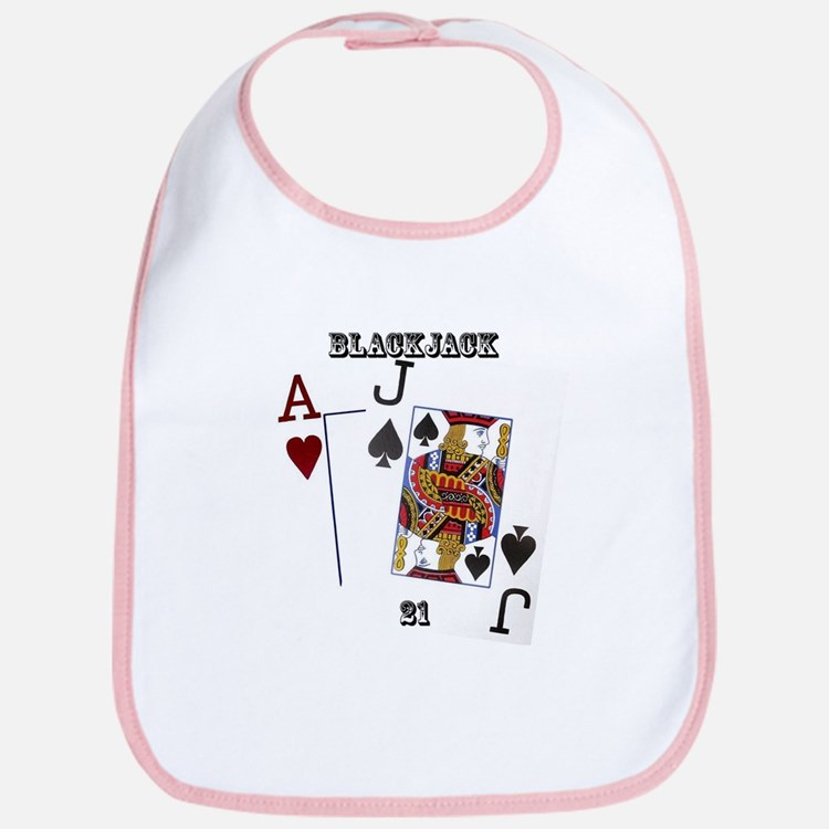Blackjack Cards Bib