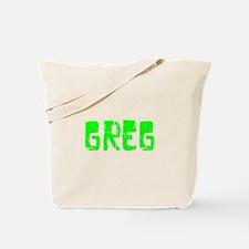 Greg Faded (Green) Tote Bag