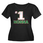 Nonna Women's Plus Size Scoop Neck Dark T-Shirt