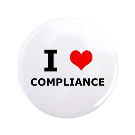 """I (heart) Compliance 3.5"""" Button (100 pack)"""