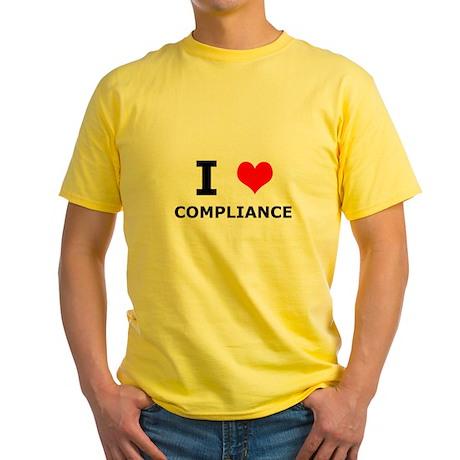 I (heart) Compliance Yellow T-Shirt