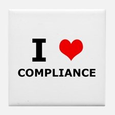 I (heart) Compliance Tile Coaster