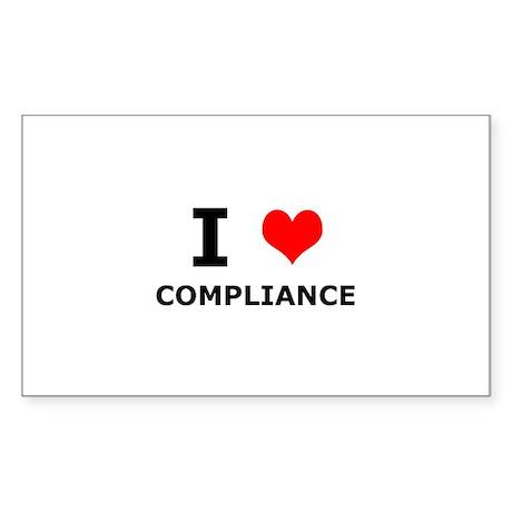 I (heart) Compliance Rectangle Sticker