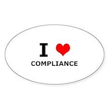 I (heart) Compliance Oval Decal