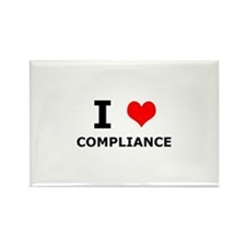 I (heart) Compliance Rectangle Magnet