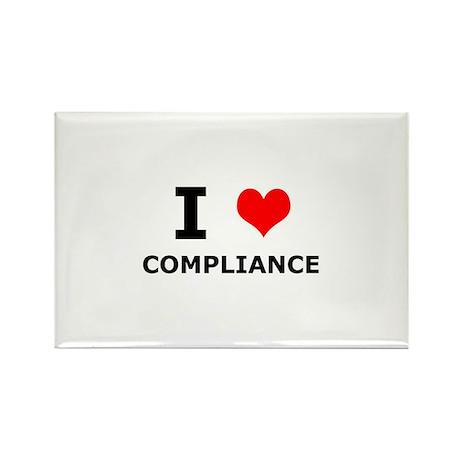 I (heart) Compliance Rectangle Magnet