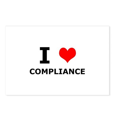 I (heart) Compliance Postcards (Package of 8)
