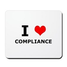 I (heart) Compliance Mousepad