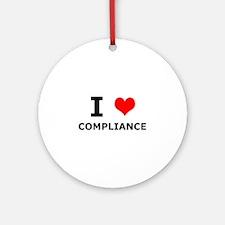 I (heart) Compliance Ornament (Round)