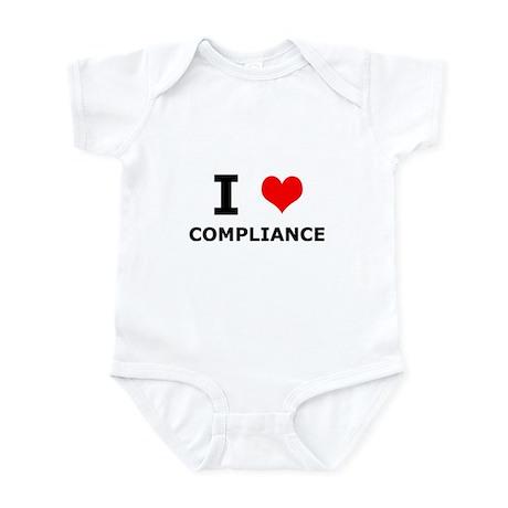 I (heart) Compliance Infant Bodysuit