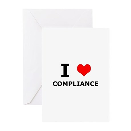 I (heart) Compliance Greeting Cards (Pk of 10)