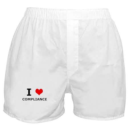 I (heart) Compliance Boxer Shorts