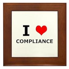 I (heart) Compliance Framed Tile