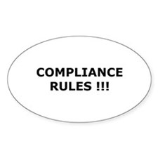 Compliance Rules Oval Sticker (10 pk)