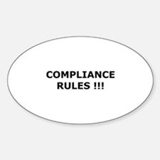 Compliance Rules Oval Decal