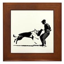 GSD Schutzhund Framed Tile