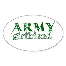 Army Girlfriend Oval Decal