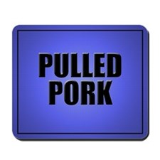 Pulled Pork Mouse Pad-Blue