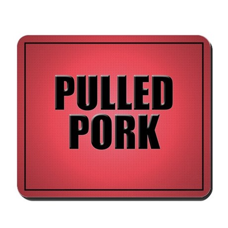 Pulled Pork Mouse Pad-Red