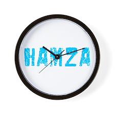 Hamza Faded (Blue) Wall Clock