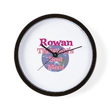 Rowan - World's Best Mom Wall Clock