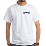 Masonic US NAVY White T-Shirt