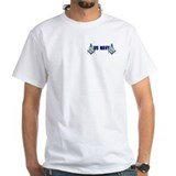 Masonic Mens White T-shirts