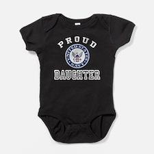 Proud US Navy Daughter Baby Bodysuit
