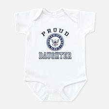 Proud US Navy Daughter Infant Bodysuit