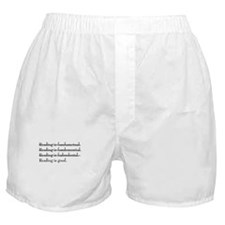 """Reading is fundamental"" Boxer Shorts"