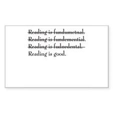 """Reading is fundamental"" Rectangle Decal"
