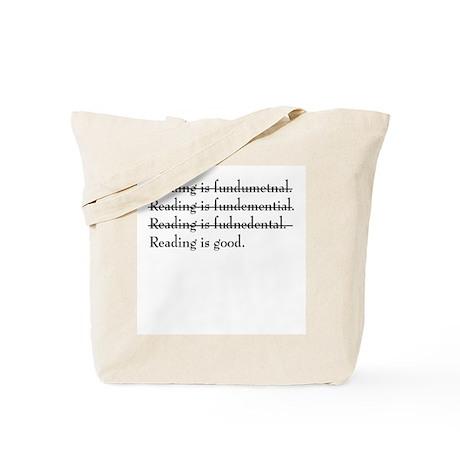 """Reading is fundamental"" Tote Bag"