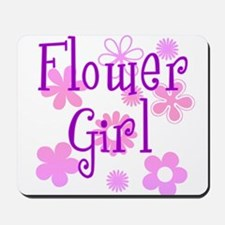 Pink and Purple Flower Girl Mousepad