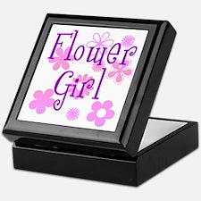 Pink and Purple Flower Girl Keepsake Box