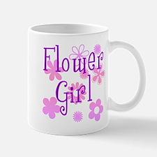 Pink and Purple Flower Girl Mug