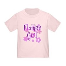 Pink and Purple Flower Girl T