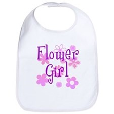 Pink and Purple Flower Girl Bib