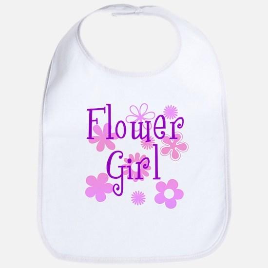 Pink and Purple Flower Girl Bib