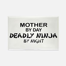 Mother Deadly Ninja by Night Rectangle Magnet